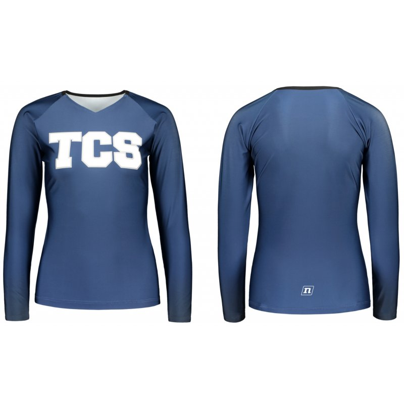 CHEERLEADING TOP V-NECK LS
